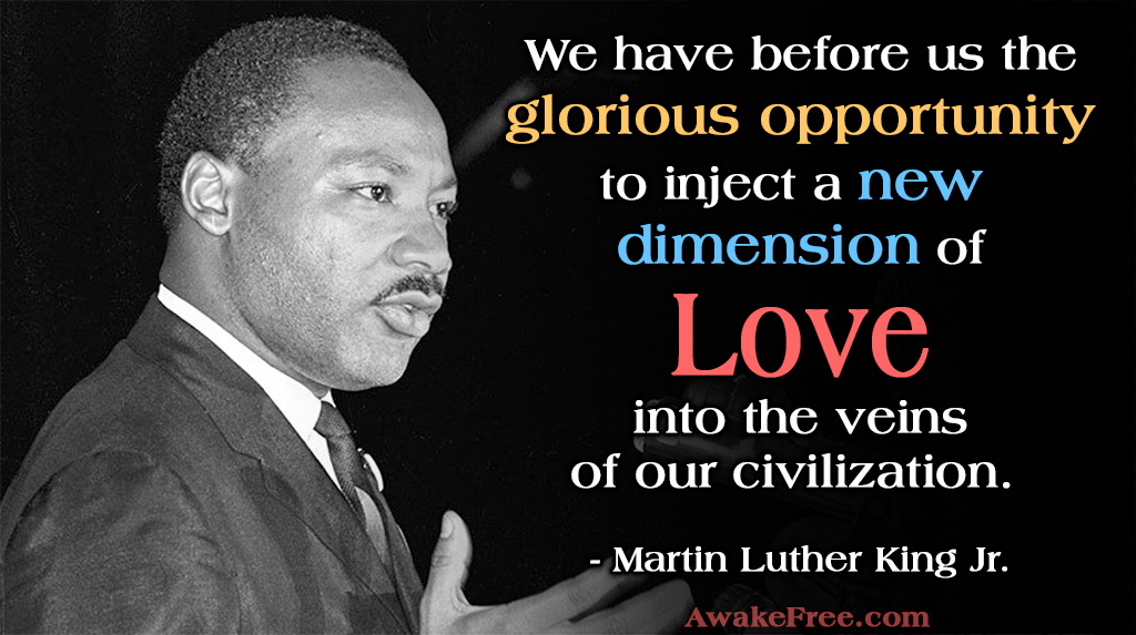 MARTIN LUTHER KING JR Opportunity for Love