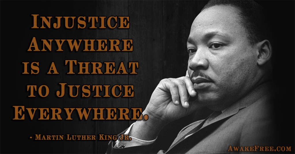 Martin Luther King MLK Quotes Injustice Threat to Justice