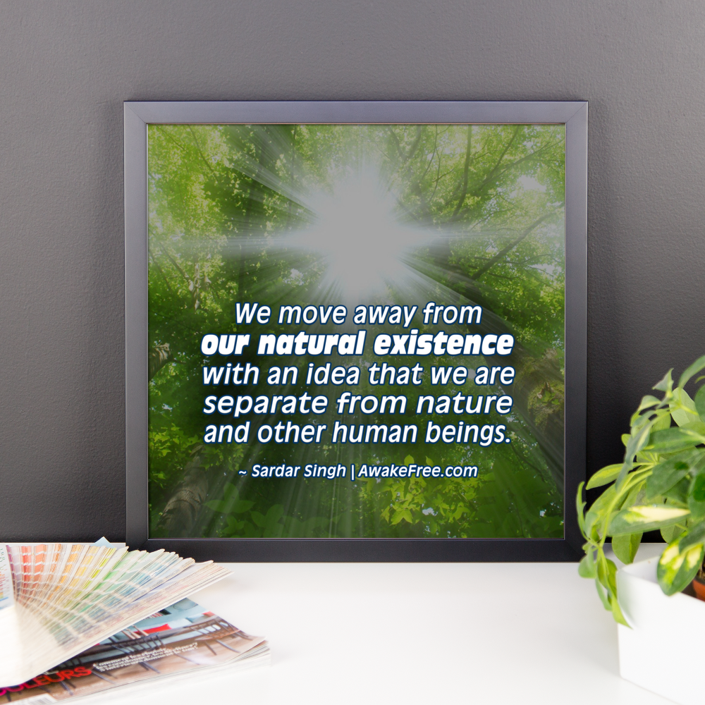 Our Natural Existence - An Inspiring Framed Poster - Ready to Hang ...