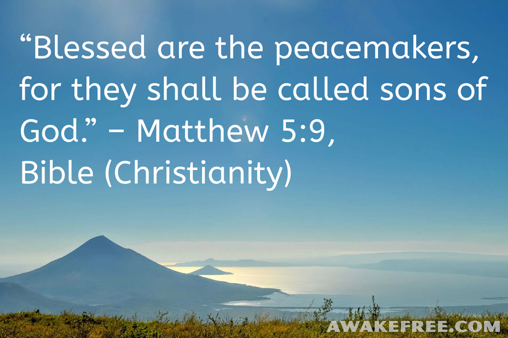 Peace-Quotes-Blessed-Peacemakers-Matthew-Bible-Christianity-AwakeFree.com
