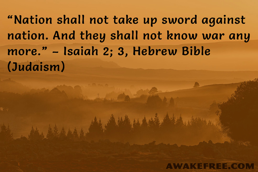 Peace-Quotes-They-Shall-Not-Know-War-Anymore-Hebrew-Bible-01a-AwakeFree.com