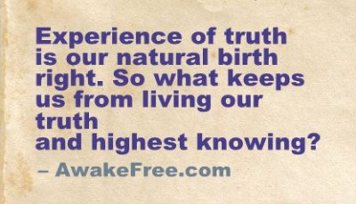 Truth is Our Birthright