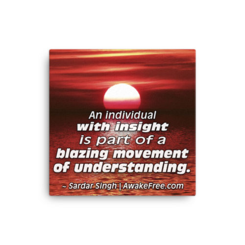 Blazing Movement of Understanding – An Inspiring Canvas Print
