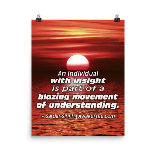 Blazing Movement of Understanding – An Inspiring Quote Poster