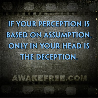 Perception, Assumption, Deception
