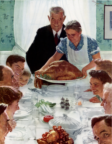 thanksgiving holiday - classic family - rockwell